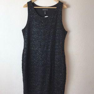 Forever 21 plus size black metallic silver dress